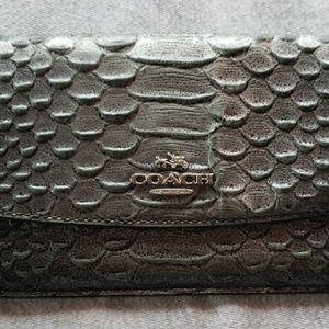Coach womans faux alligator wallet.